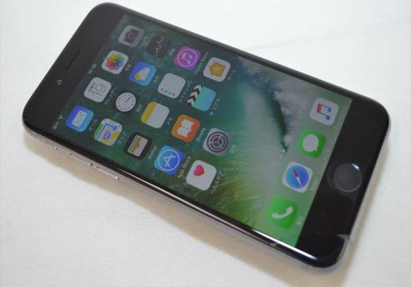 ガラスヒビ Softbank iPhone6 16GB グレイ 判定〇